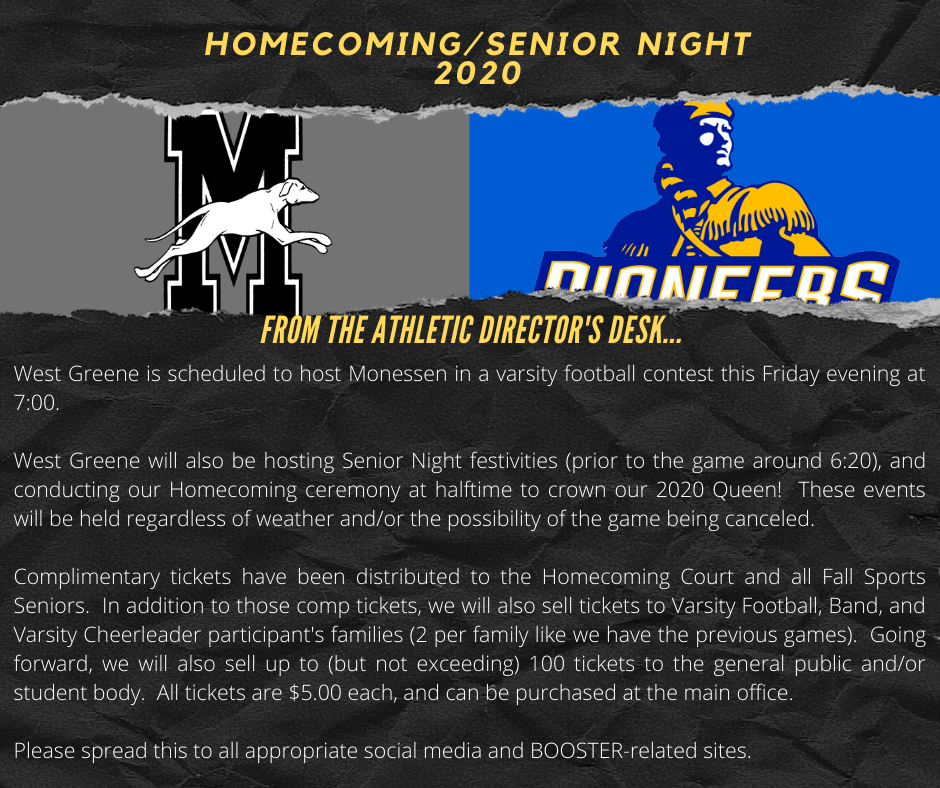 Homecoming/Fall Senior Night