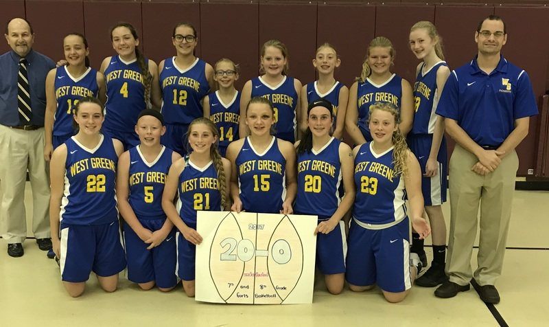 Undefeated 7th-8th Grade Girls Basketball!
